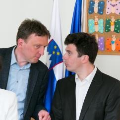 Podpornik Iniciative za slovenski vrtec M.Sc. Marko Svetina in lastnik privatnega vrtca Schmetterling DI (FH), M.Sc. Christoph Dorn (o.l.p.d.)